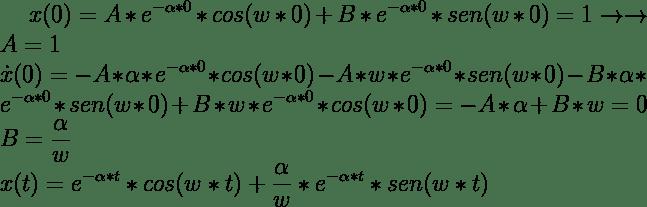 Cálculo de constantes