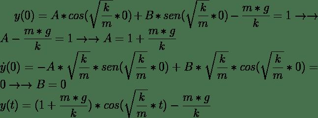 Solución general con gravedad