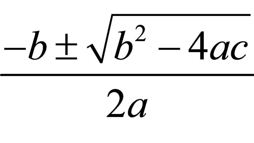 Fórmula ecuación de segundo grado