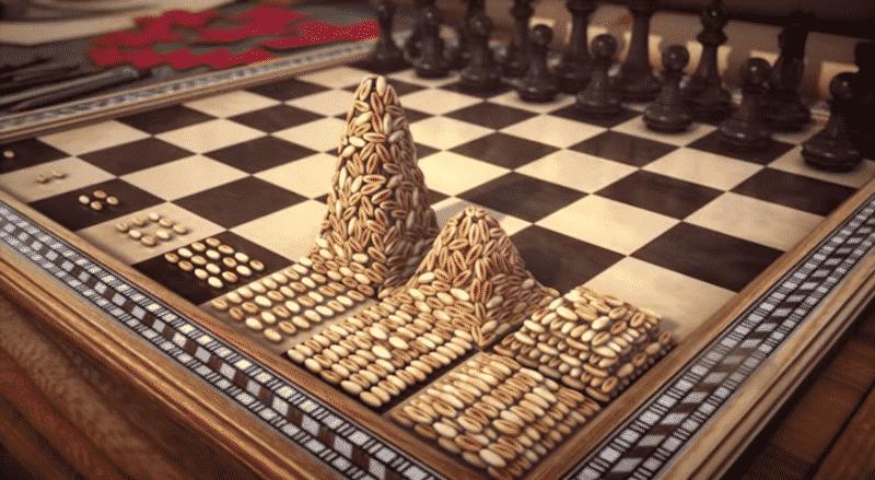 Variación de La leyenda del tablero de ajedrez y las monedas de oro
