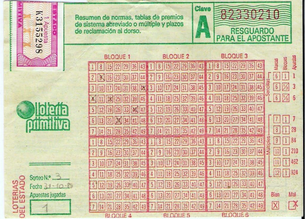 Lotería Primitiva. Loteria de españa