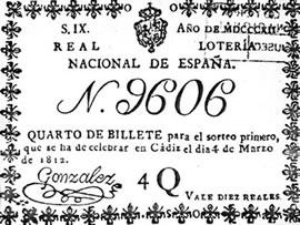 Primer décimo de loteria en españa