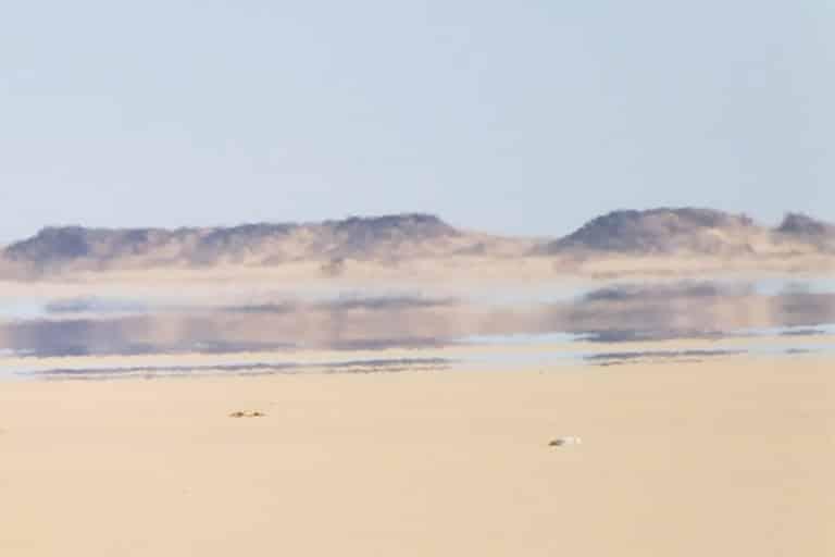 Espejismo en desierto