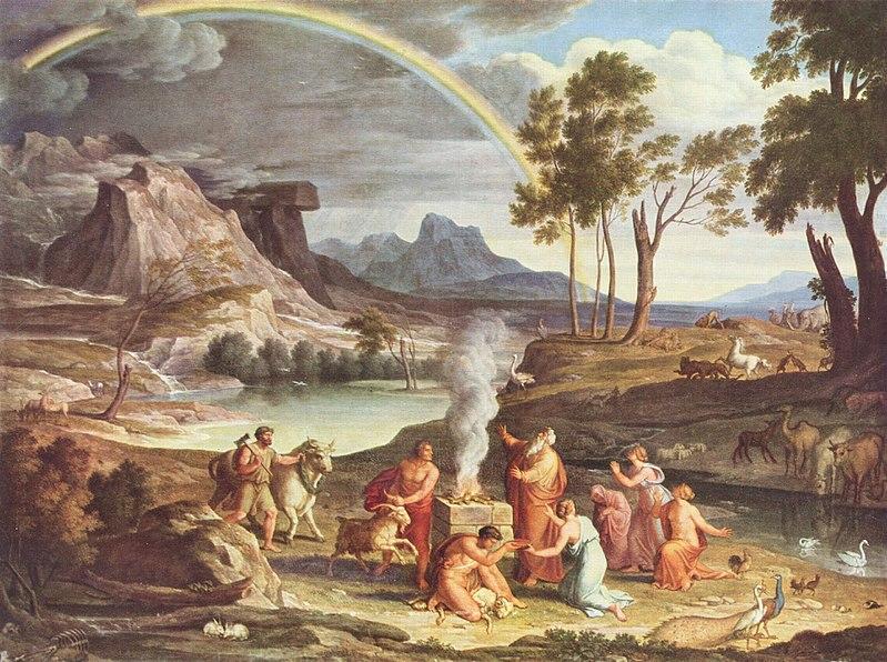 Pintura del arcoiris en el Génesis de Joseph Anton Koch