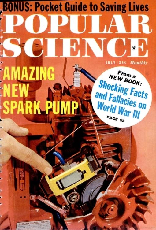 """Portada de la revista """"Popular Science"""" donde se mencionan las bujías piezoeléctricas"""