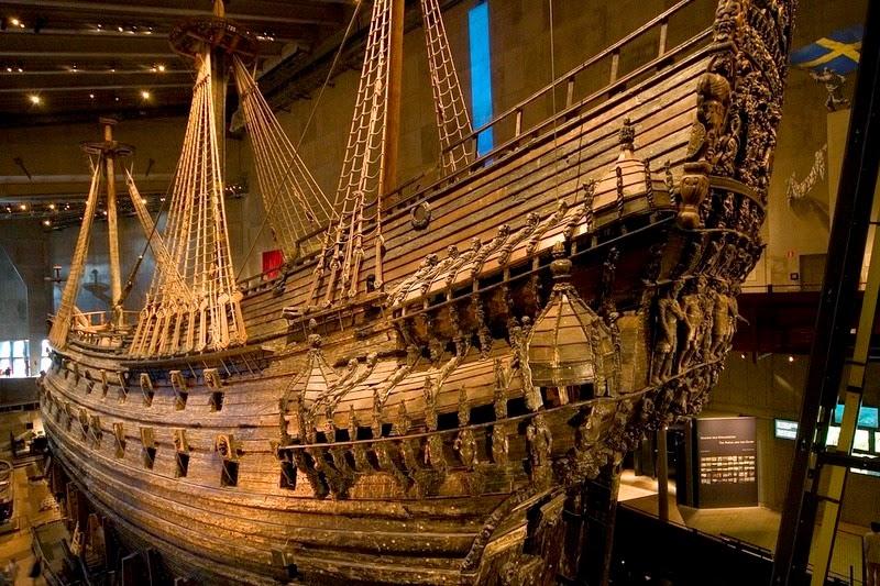 Vasa expuesto en el museo dedicado al barco