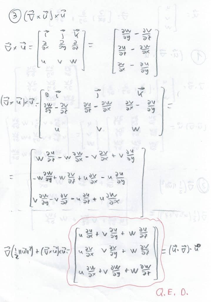 Página 2 de la demostración del término de la ecuación de Euler
